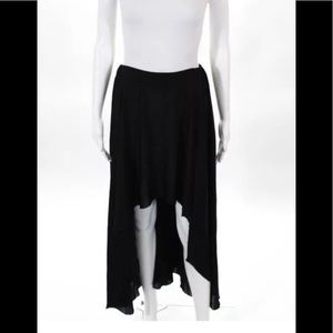 NWT Enza Costa skirt elastic waist high low sz xs